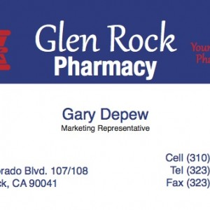Business Cards – Glen Rock Pharmacy