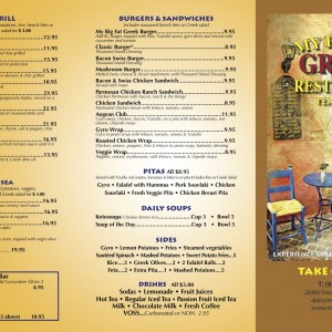 Menus – My Big Fat Greek