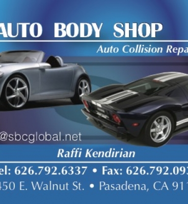 Business Cards – K and B Auto Body