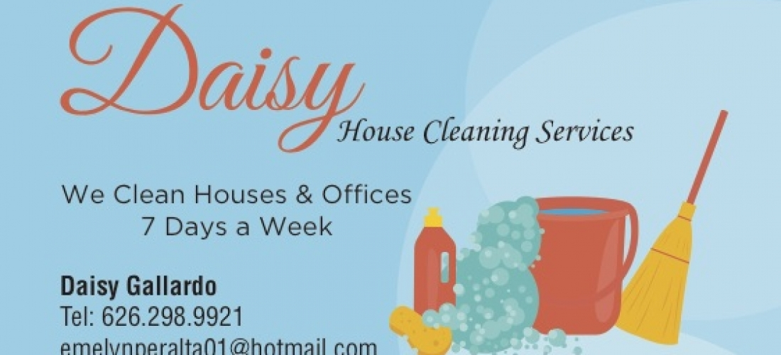 Business Cards – Daisy House Cleaning