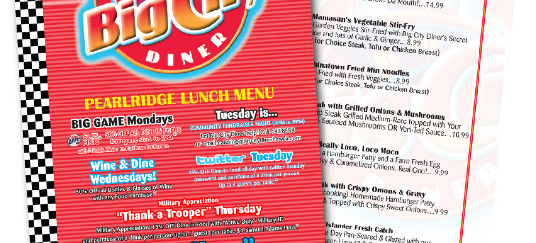 Menu – Big City Diner